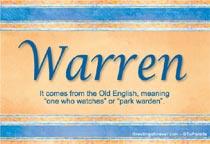 Name Warren