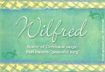 Name Wilfred