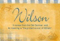 Name Wilson