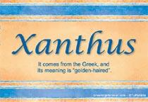 Name Xanthus