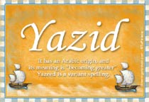 Name Yazid