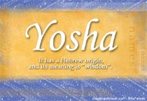 Name Yosha