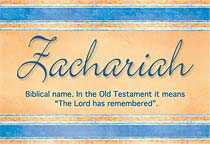 Name Zachariah