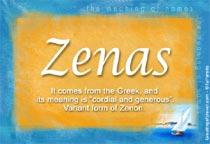 Name Zenas