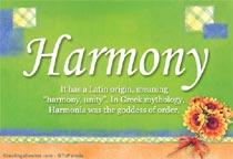 Name Harmony