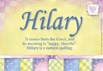 Name Hilary