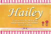Name Hailey