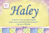 Name Haley