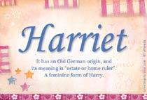 Name Harriet