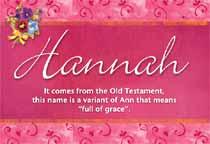 Name Hannah