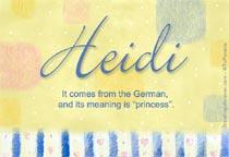Name Heidi