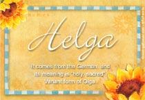Name Helga