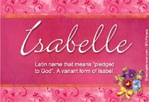 Name Isabelle
