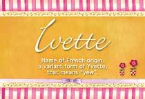 Name Ivette