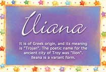 Name Iliana