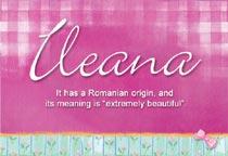 Name Ileana