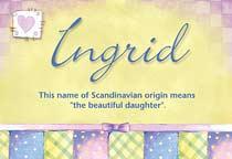 Name Ingrid