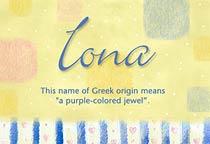 Name Iona
