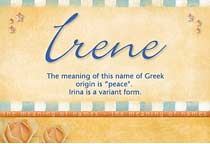Name Irene