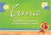 Name Irma