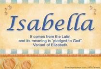 Name Isabella