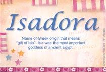 Name Isadora
