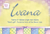 Name Ivana
