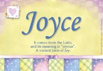 Name Joyce