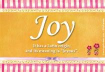 Name Joy