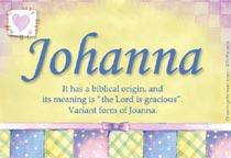 Name Johanna