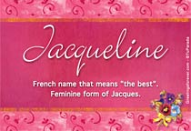 Name Jacqueline