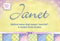 Name Janet