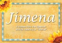 Name Jimena