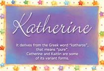 Name Katherine
