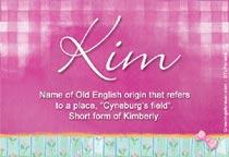 Name Kim