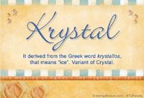 Name Krystal