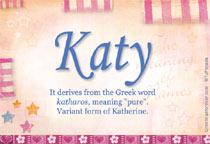 Name Katy