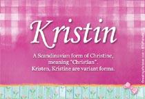 Name Kristin