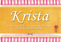 Name Krista