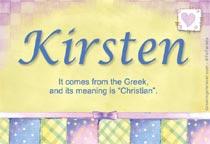 Name Kirsten