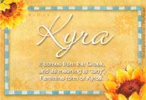 Name Kyra