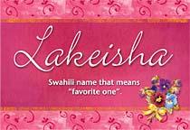Name Lakeisha