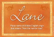 Name Lane