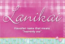 Name Lanikai