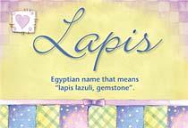 Name Lapis