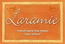 Name Laramie