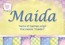 Name Maida