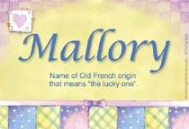 Name Mallory