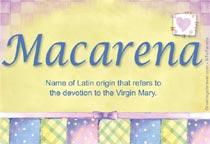 Name Macarena