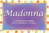 Name Madonna